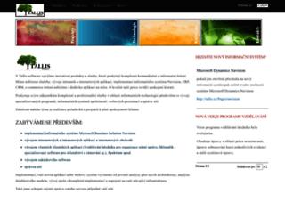 tallis.cz screenshot