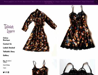 tallulah-lingerie.co.uk screenshot
