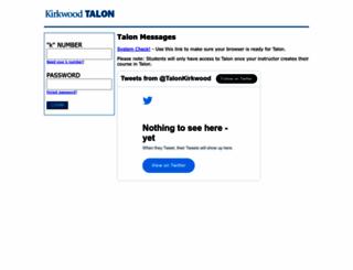 talon.kirkwood.edu screenshot