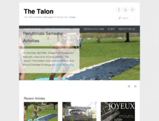 talon.tfc.edu screenshot