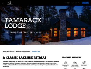 tamaracklodge.com screenshot