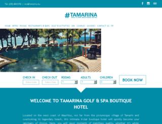 tamarinahotel.com screenshot