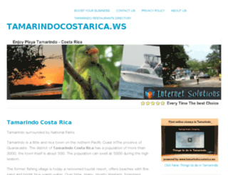 tamarindocostarica.ws screenshot
