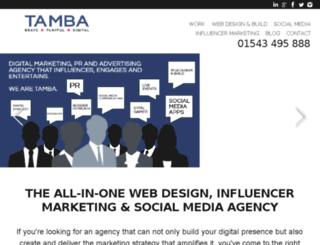 tamba.co.uk screenshot