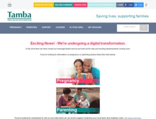 tambamessageboard.org.uk screenshot