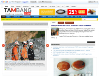 tambangnews.com screenshot