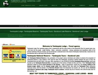 tambopatalodge.net screenshot