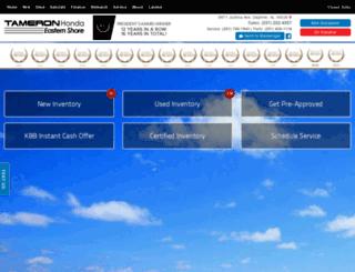 tameronhondaeasternshore.com screenshot