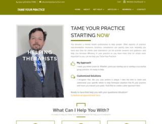 tameyourpractice.com screenshot