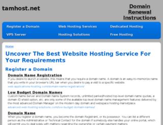 tamhost.net screenshot