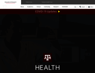 tamhsc.edu screenshot