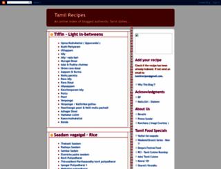 tamilcuisine.blogspot.com screenshot
