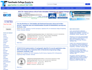 tamilnaducollegeevents.in screenshot