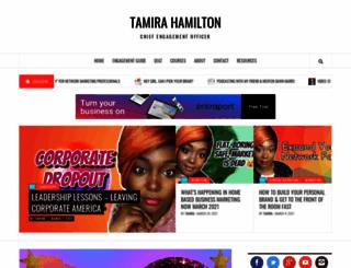 tamirahamilton.com screenshot
