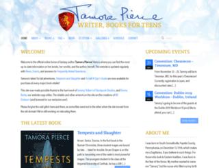 tamorapierce.com screenshot