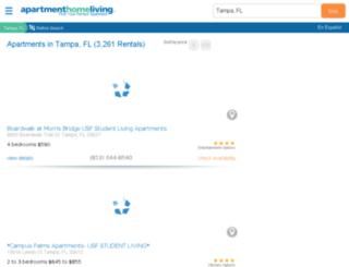 tampa.apartmenthomeliving.com screenshot