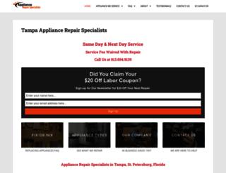 tampaappliancerepair.com screenshot