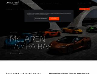 tampabay.mclaren.com screenshot