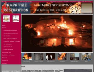tampafirerestoration.com screenshot