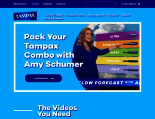 tampax.com screenshot