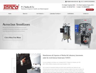 tancolabproducts.com screenshot