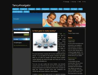 tancy4hostgator.webnode.com screenshot