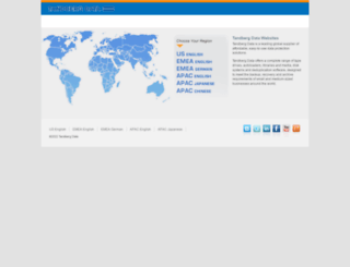 tandbergdata.com screenshot