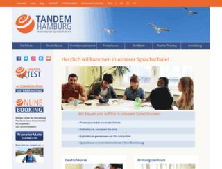 tandem-hamburg.de screenshot