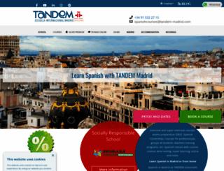 tandemmadrid.com screenshot