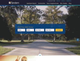 tandemproperties.com screenshot