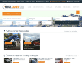 tandilgarage.com screenshot