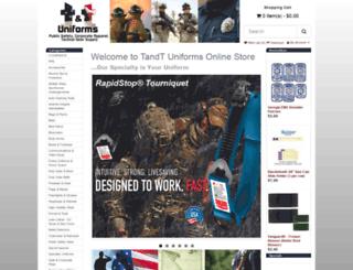 tandtuniforms.com screenshot