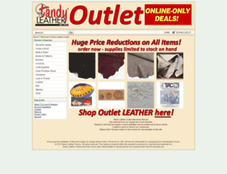 tandyleatheroutlet.com screenshot