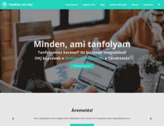 tanfolyam.hu screenshot
