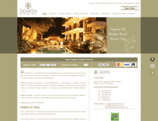 tangerineresorts.com screenshot