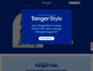 tangeroutlet.com screenshot