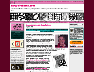 tanglepatterns.com screenshot