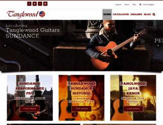 tanglewoodguitars.com screenshot