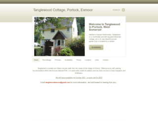 tanglewoodporlock.co.uk screenshot