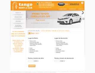 tangorentacar.com screenshot