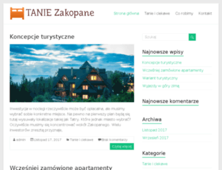 tanie-zakopane.info screenshot