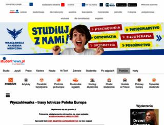 tanielinielotnicze.studentnews.pl screenshot