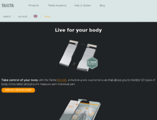 tanita.co.uk screenshot