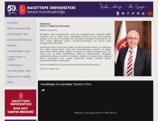 tanitim.hacettepe.edu.tr screenshot