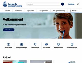 tannlegeforeningen.no screenshot