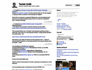 tantek.com screenshot
