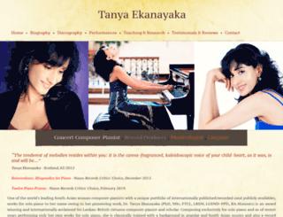 tanyaekanayaka.com screenshot