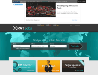 tanzania.xpatjobs.com screenshot