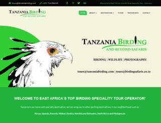 tanzaniabirding.com screenshot