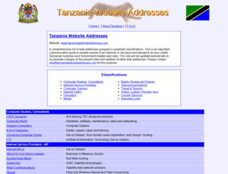 tanzaniawebsiteaddresses.com screenshot